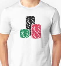 Poker Roulette chips gambling T-Shirt