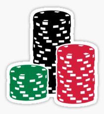 Poker Roulette chips gambling Sticker