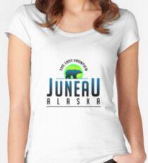 Juneau Alaska Women's Fitted Scoop T-Shirt