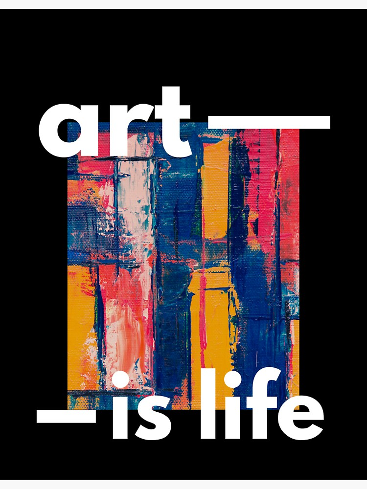 art is life: black background by Rockocrock