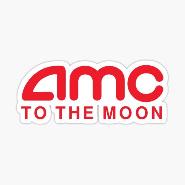 AMC To The Moon Parody Stocks Investor Sticker