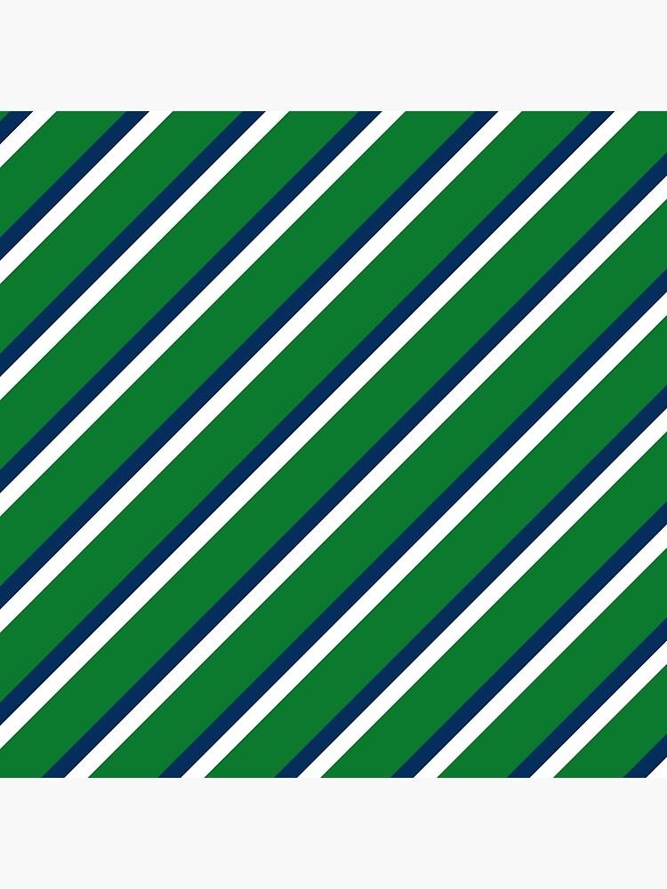 Preppy Green Blue White Diagonal by RR-Shop
