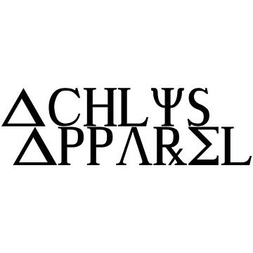 Achlys Apparel Black Text by destructopanda