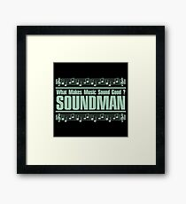 Good Soundman Green Framed Print