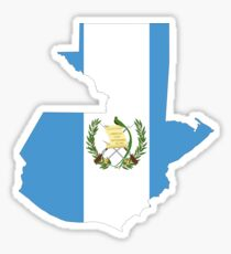 Guatemala Flag Map Sticker