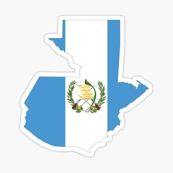 Mapa de la bandera de Guatemala Pegatina