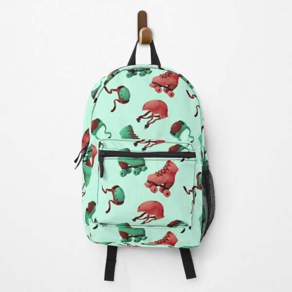 Watermelon Green and Red Roller Skates Backpack