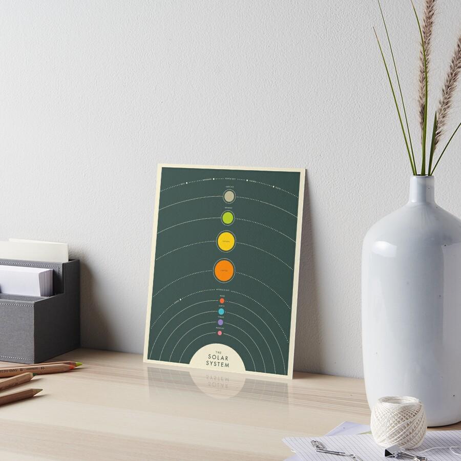 THE SOLAR SYSTEM Art Board Print