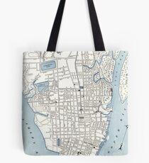 Vintage Map of Charleston South Carolina (1898) Tote Bag