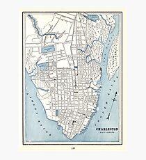 Vintage South Carolina Map.Charleston South Carolina Map Gifts Merchandise Redbubble