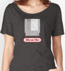 Blow Me - Vintage Nintendo Cartridge Women's Relaxed Fit T-Shirt