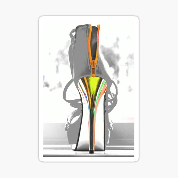 High heel Sticker