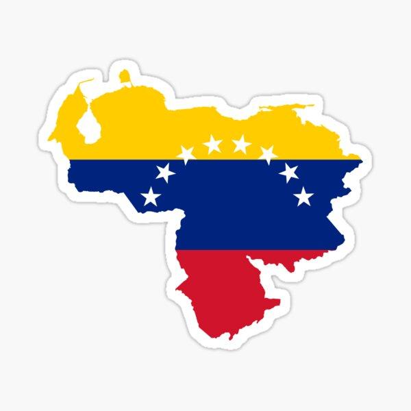Mapa de la bandera de Venezuela Pegatina
