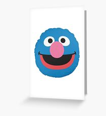 grover face Greeting Card