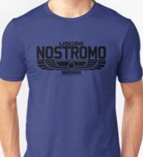 NOSTROMO ALIEN MOVIE STARSHIP (BLACK) T-Shirt