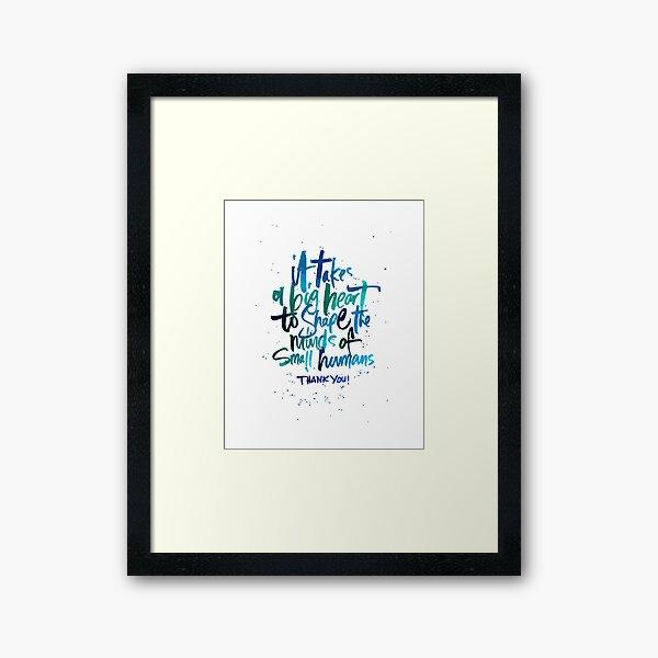 Thank You Teacher Print - Blues Framed Art Print
