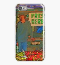 RainbowConfetti Farmers Market Fresh Herbs iPhone Case/Skin