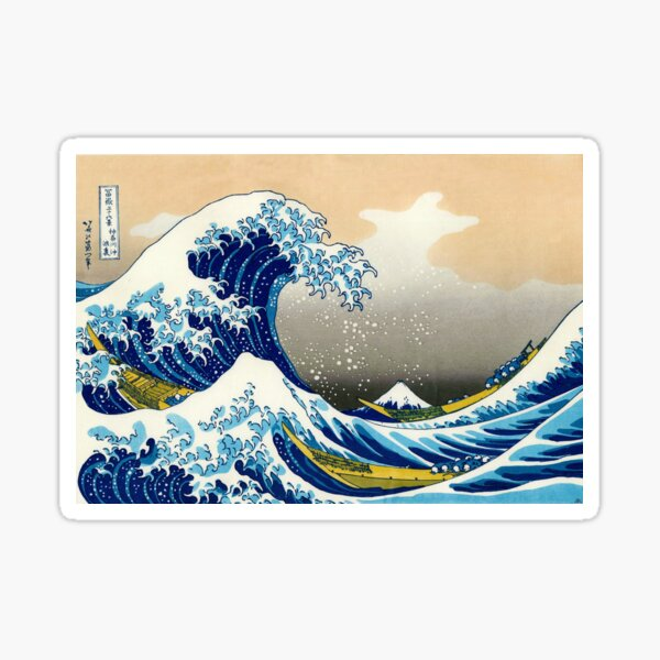 Katsushika Hokusai - The Great Wave of Kanagawa Sticker