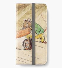 Mice rolling a cat by Beatrix Potter iPhone Wallet/Case/Skin