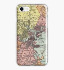 Vintage Map of Boston Massachusetts (1903)  iPhone Case/Skin