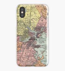 Vintage Map of Boston Massachusetts (1903)  iPhone Case/Skin
