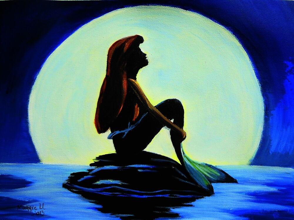 Mermaid in the moonlight by maggie326