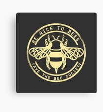 Save The Bee Society Canvas Print