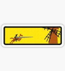 Don Quixote Tilting at Windmills Sticker