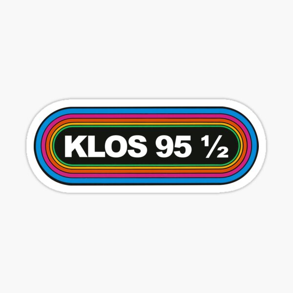 Rainbow KLOS 95 5 Los Angeles 1980s Retro Radio Station Sticker
