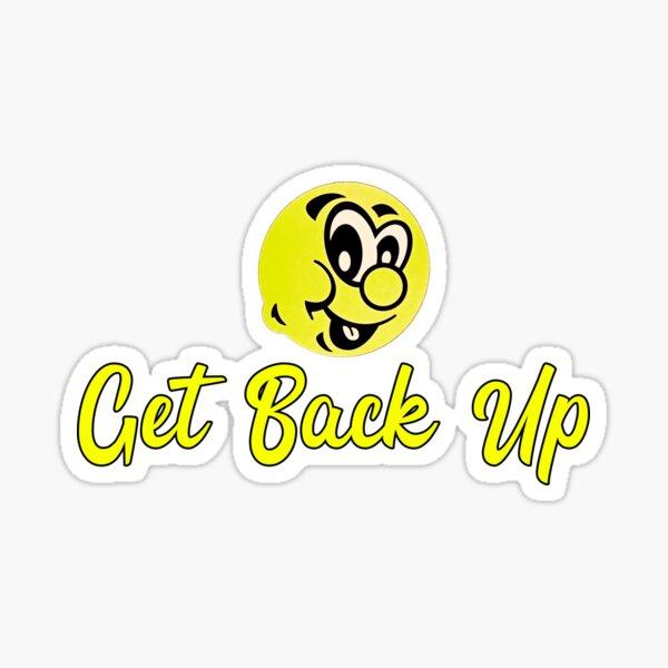 Vintage Emoticon Get Back up Punchline Sticker