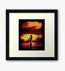 The Crane Kick Karate Kid Framed Print