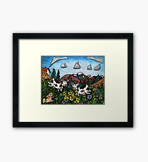 Running Cows Framed Print