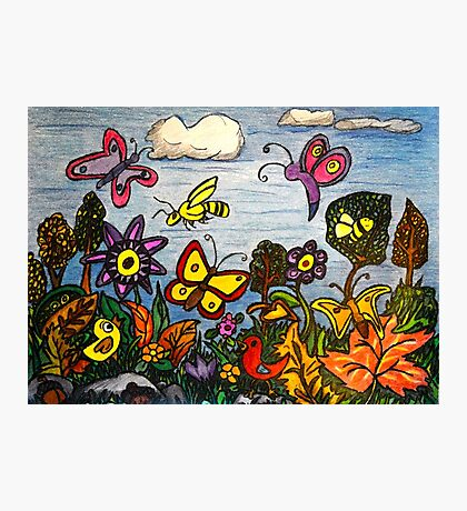 The Birds, The Bees and Butterflies Photographic Print