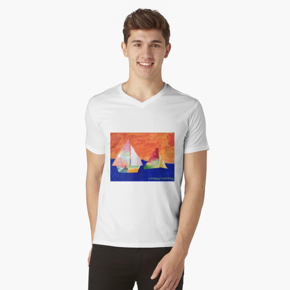 Sail Away - by Nadia Mens V-Neck T-Shirt Front