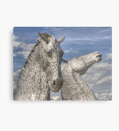 The Kelpies , Helix Park Metal Print