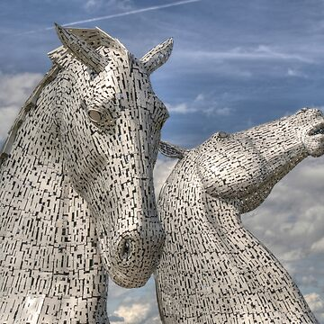 The Kelpies , Helix Park by goldyart