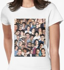 dylan o'brien collage Women's Fitted T-Shirt
