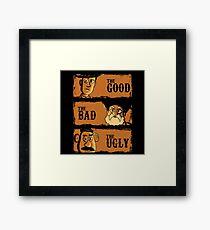 The Good The Bad the potato Framed Print