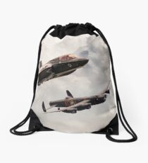 617 Then and Now Drawstring Bag