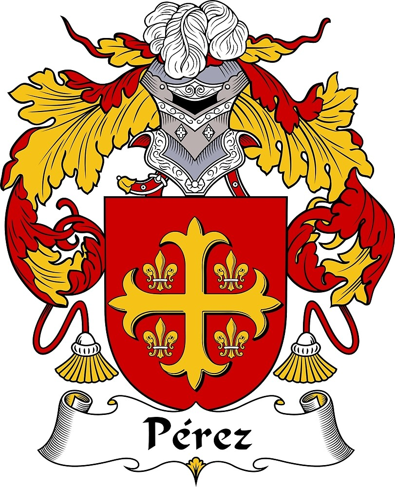 Perez Coat of Arms/Family Crest by William Martin
