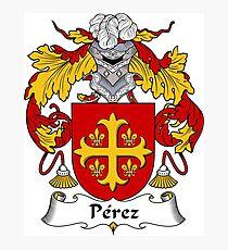 Perez Coat of Arms/Family Crest Photographic Print