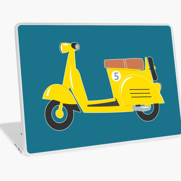 Little yellow toy scooter Laptop Skin