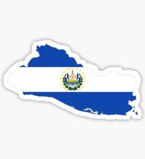 El Salvador Flag Map Sticker