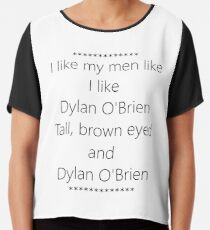 Teen Wolf - Like Dylan O'Brien Chiffon Top