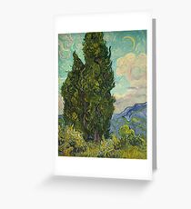 Trees By Vincent Van Gogh Greeting Card