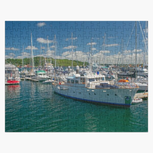 Boats in Falmouth Harbour Jigsaw Puzzle