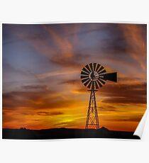 Sunset Windmill - Seligman, Arizona Poster