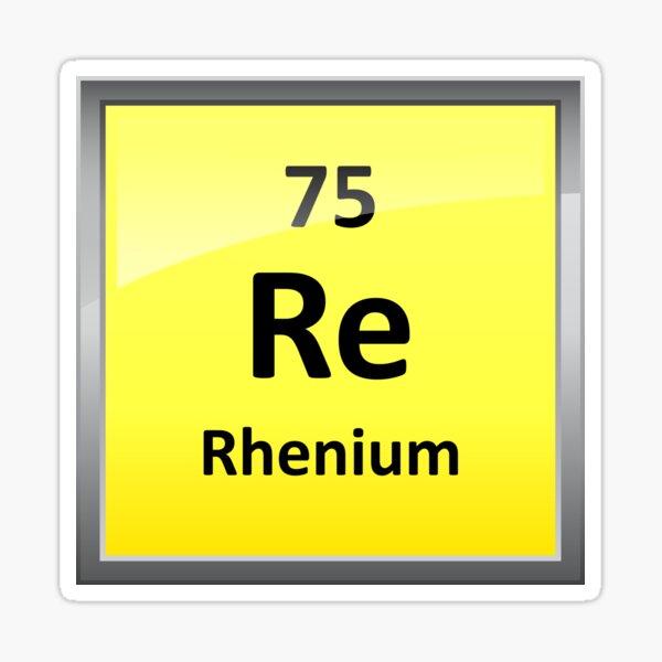 Rhenium Periodic Table Element Symbol Sticker