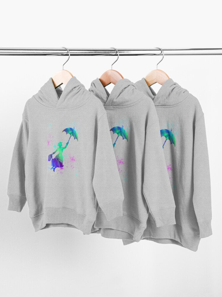 Alternate view of magical mary poppins Toddler Pullover Hoodie