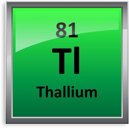 Thallium periodic table element symbol canvas prints by thallium periodic table element symbol urtaz Choice Image